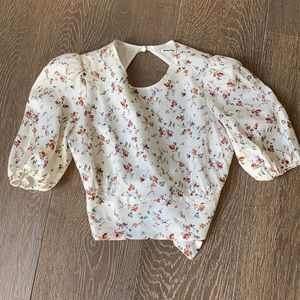 Reformation Seychelles floral top